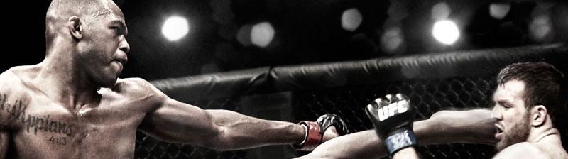 Dos boxeadores en combate